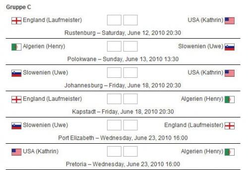 WM-Laufspiel Vorrunde