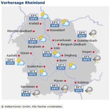 Vorhersage Rheinland
