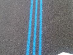 Markierung Berlin Marathon