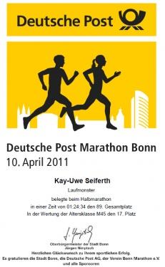 Urkunde HM Bonn 2011