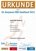 Urkunde Kerpener Stadtlauf 2011