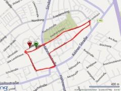 Strecke Kerpener Stadtlauf