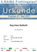 Urkunde Frechener Frühlingslauf 2011