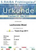 Urkunde Frechener Frühlingslauf 2011 Mixed