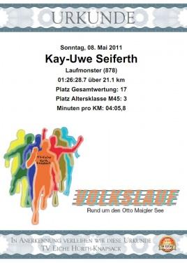 Urkunde Otto Maigler See 2011