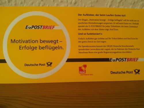 Spende DKMS Bonn Marathon