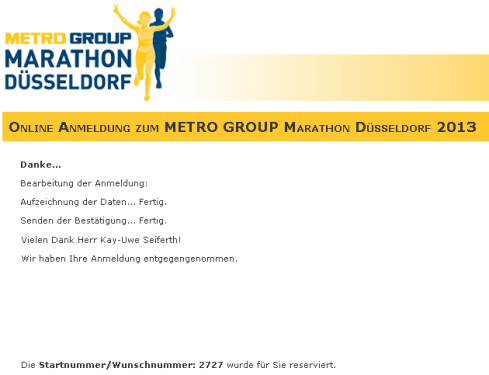 Anmeldung Düsseldorf 2013