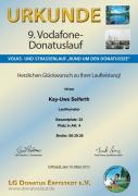 Urkunde Donatuslauf 2013