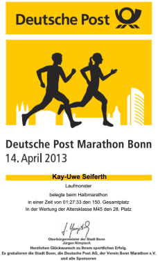 Urkunde HM Bonn 2013