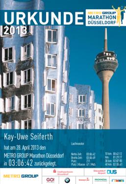 Urkunde Düsseldorf 2013
