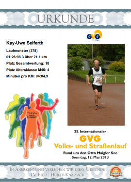 Urkunde Hürth 2013
