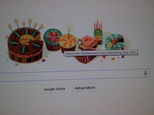 Geburtstagsglückwünsche von Google