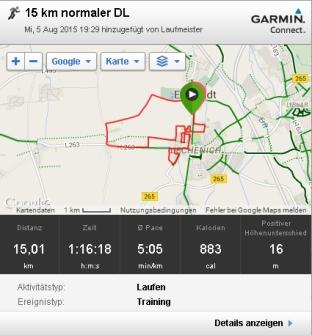 15 km normaler DL