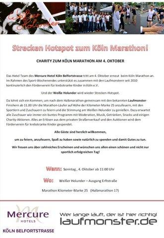 Streckenhotspot zum Köln Marathon 2015