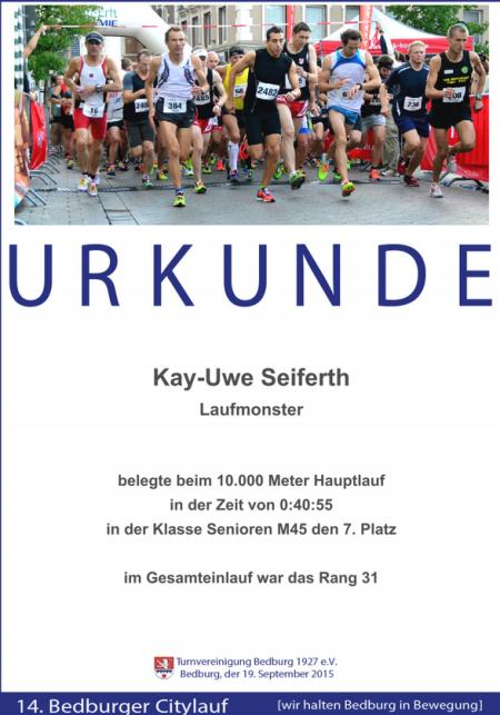 Urkunde Bedburg 2015