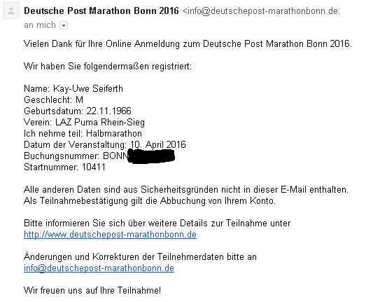 Anmeldung Bonn HM 2016