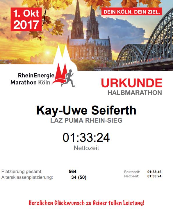 Urkunde Köln HM 2017